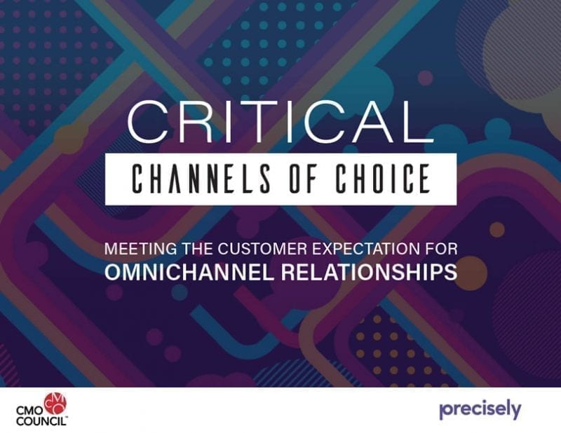 CMO Council: Critical Channels of Choice, Meeting Customer Expectations