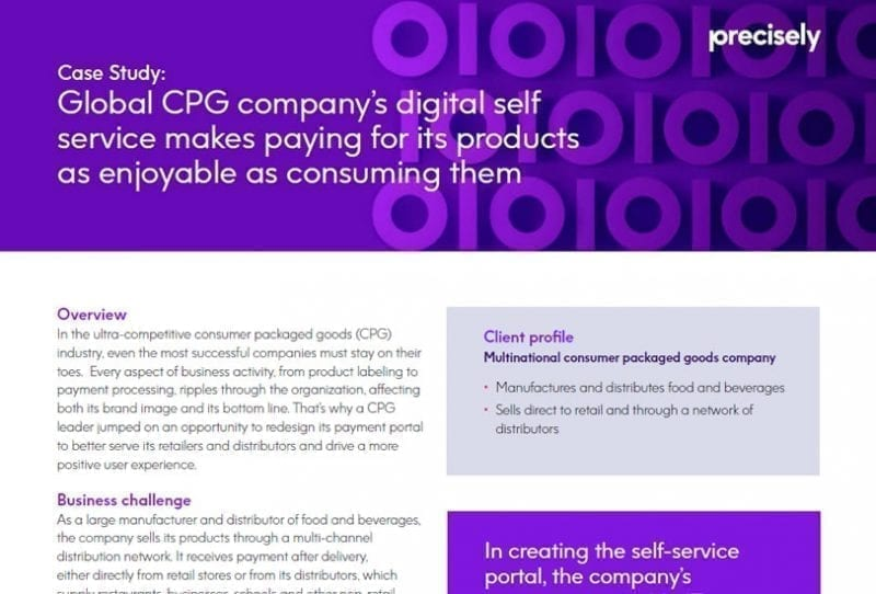 Global CPG company's digital self service makes paying for its products as enjoyable as consuming them