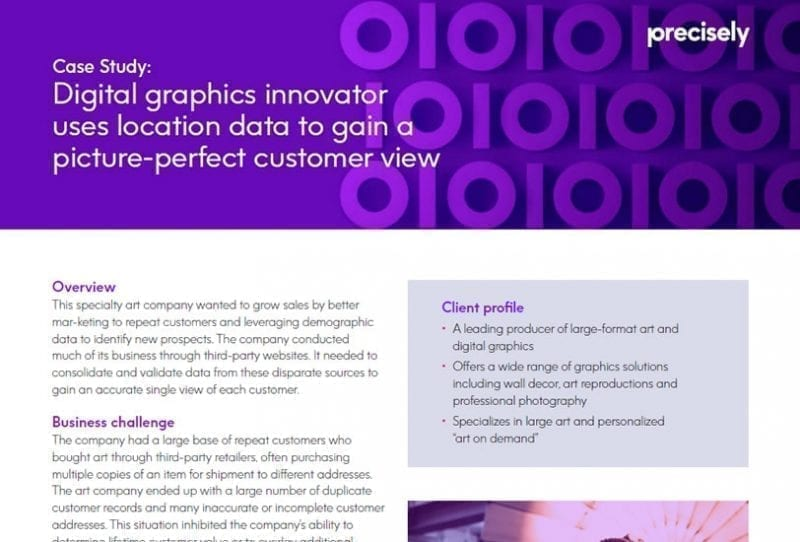 Digital Graphics Innovator Uses Location Data To Gain A Picture-perfect Single Customer View