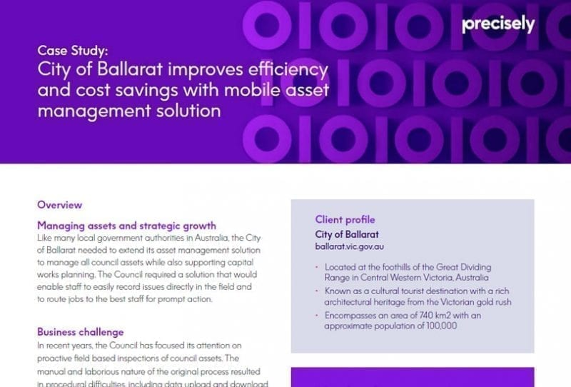 City of Ballarat improves efficiency and cost savings with mobile asset management solution