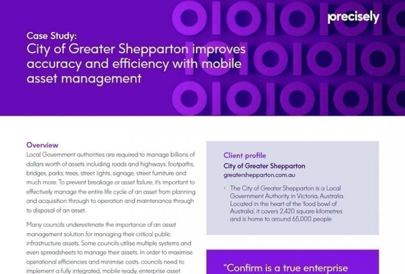 City of Greater Shepparton improves accuracy and efficiency with mobile asset management