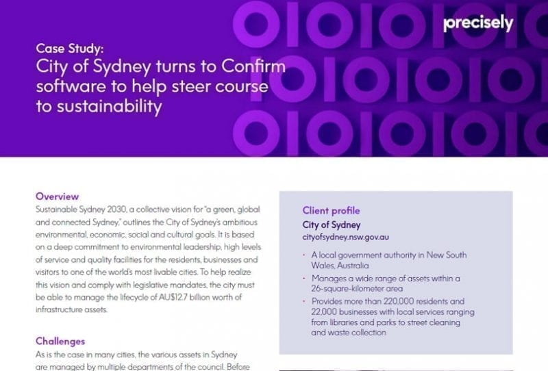 City of Sydney turns to Confirm software to help steer course to sustainability