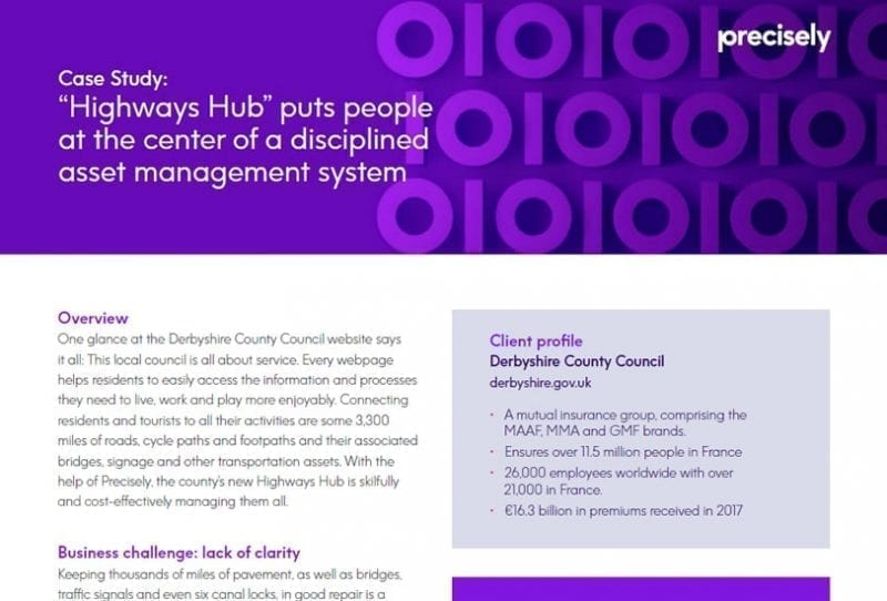 """""""Highways Hub"""" puts people at the center of a disciplined asset management system"""