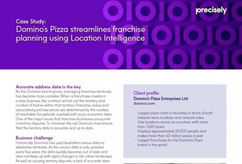 Domino's Pizza streamlines franchise planning using Location Intelligence