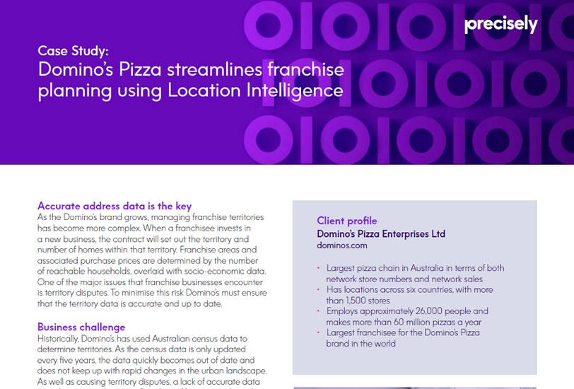 Domino's Pizza streamlines franchise planning using Location Intelligence