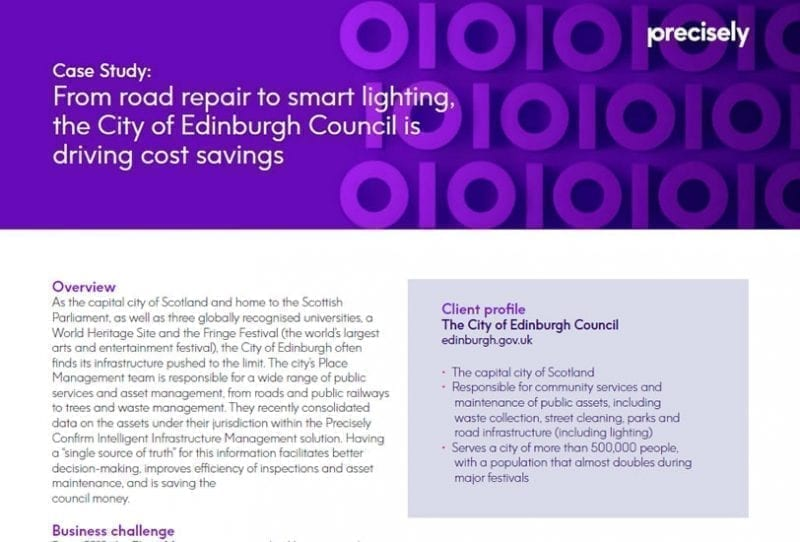 From road repair to smart lighting, the City of Edinburgh Council is driving cost savings