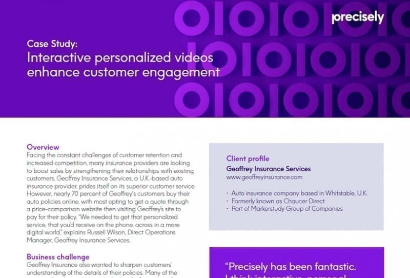 Geoffrey Insurance Services uses interactive personalized videos when engaging with customers