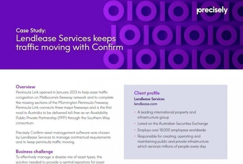 Lendlease Services keeps traffic moving with Confirm