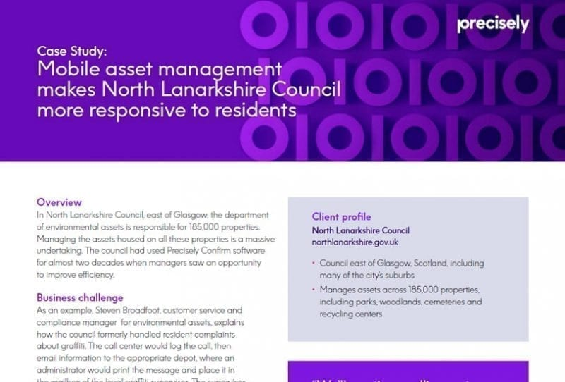Mobile asset management makes North Lanarkshire Council more responsive to residents