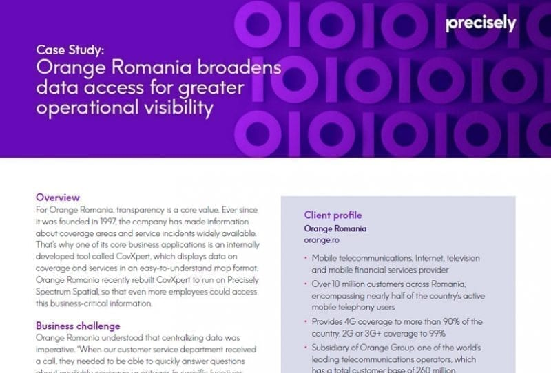 Orange Romania broadens data access for greater operational visibility