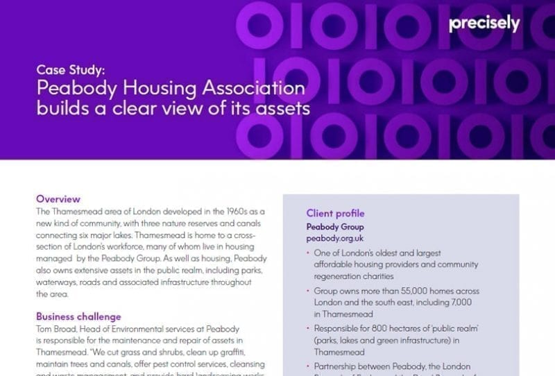 Peabody Housing Association builds a clear view of its assets