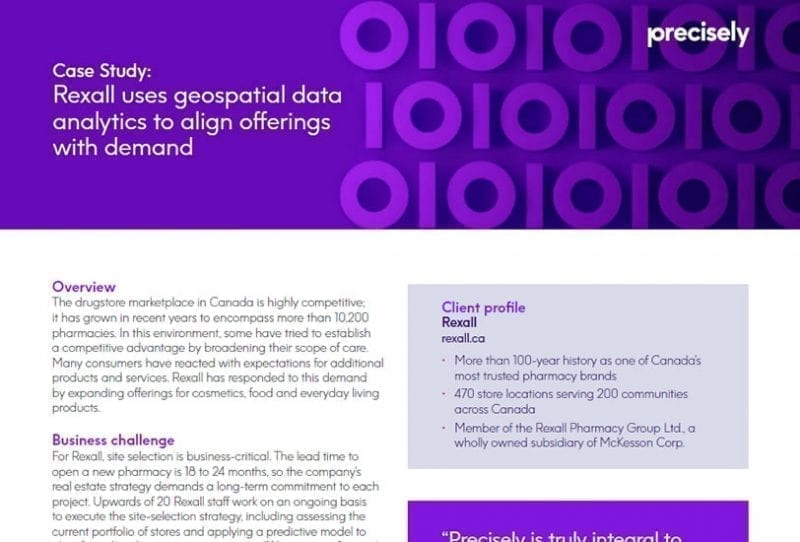 Rexall uses geospatial data analytics to align offerings with demand