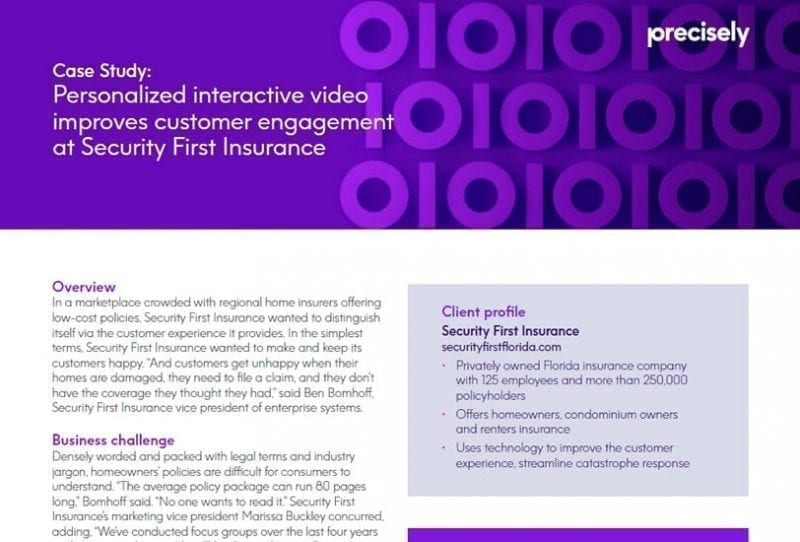 Personalized Interactive Video Improves Customer Experience for Security First Insurance