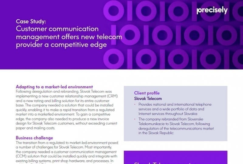 Customer communication management offers new telecom provider a competitive edge