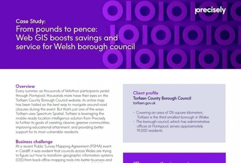 From pounds to pence: Web GIS boosts savings and service for Welsh borough council