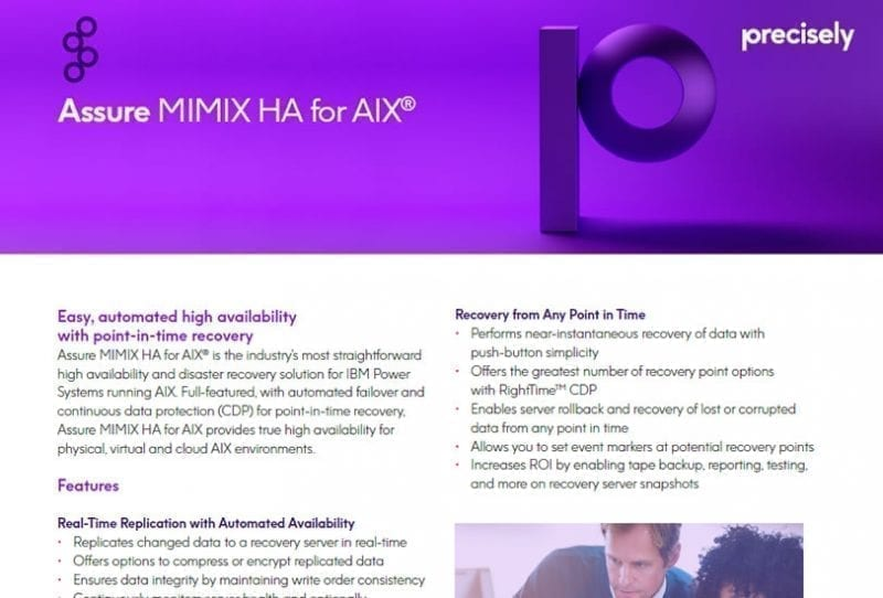 Assure MIMIX for AIX