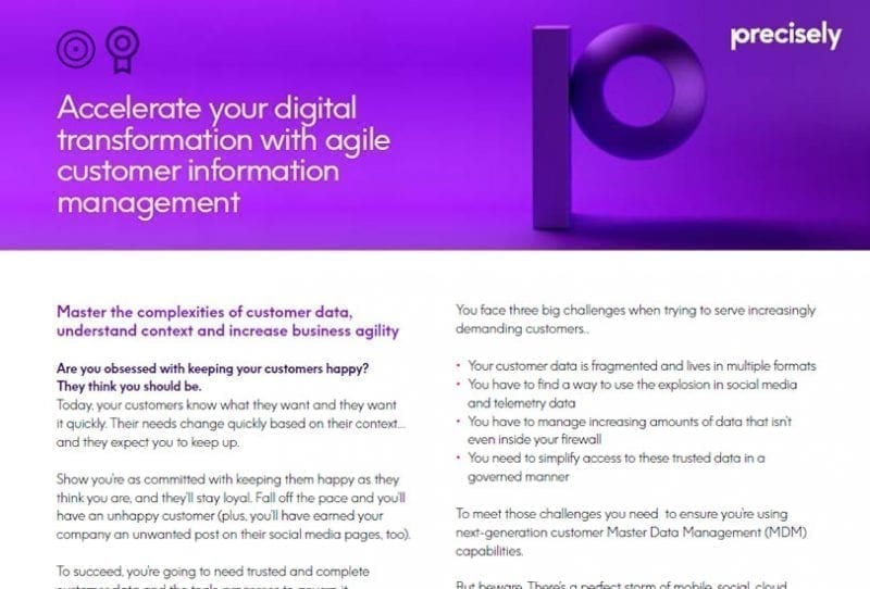 Precisely Customer Information Management Overview Brochure