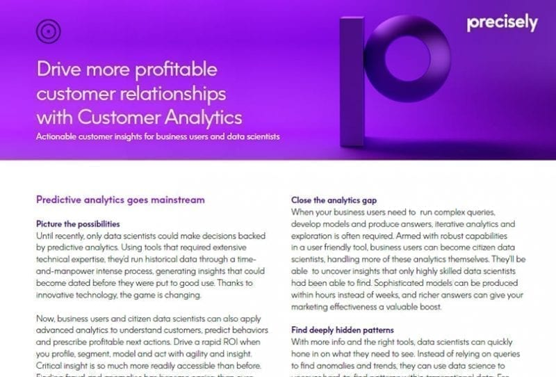 Precisely Customer Analytics Brochure