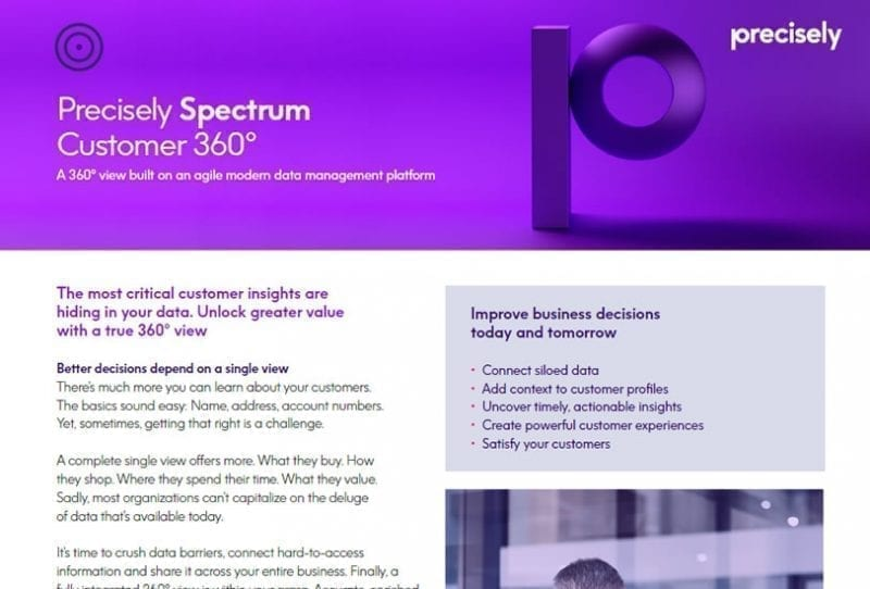 Precisely Spectrum Customer 360