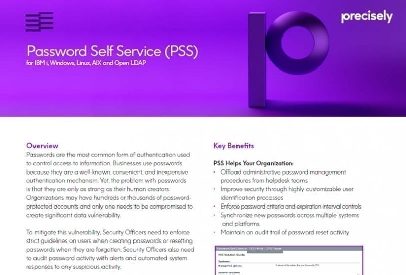 Enforcive Password Self-Service (PSS)