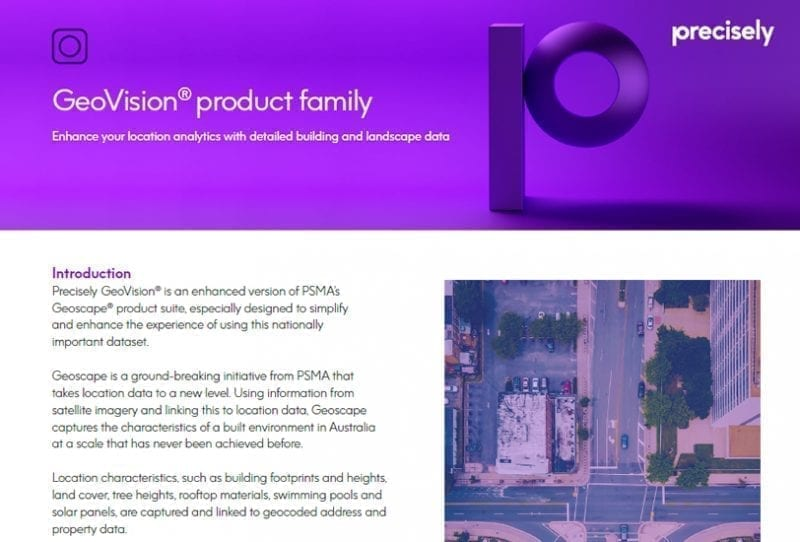 GeoVision product family