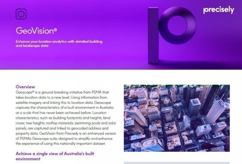 GeoVision product sheet
