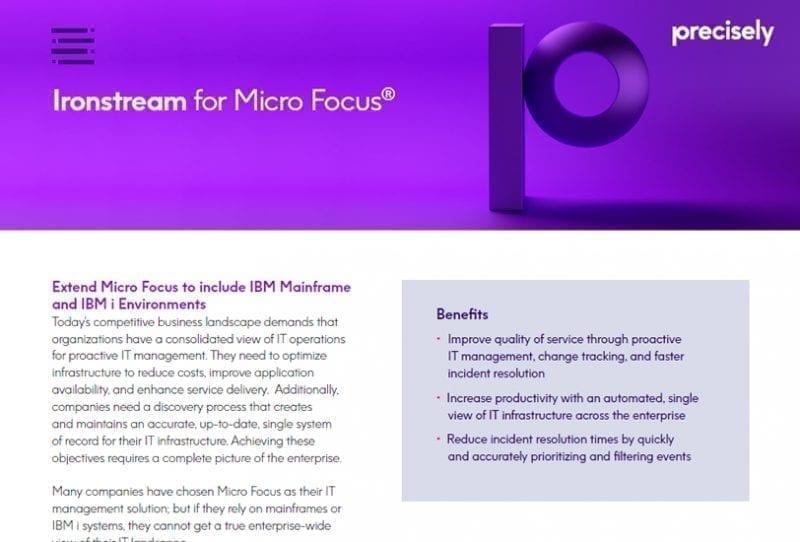 Ironstream for Micro Focus