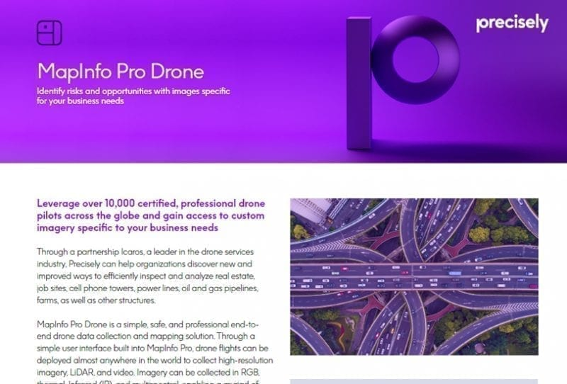 MapInfo Pro Drone