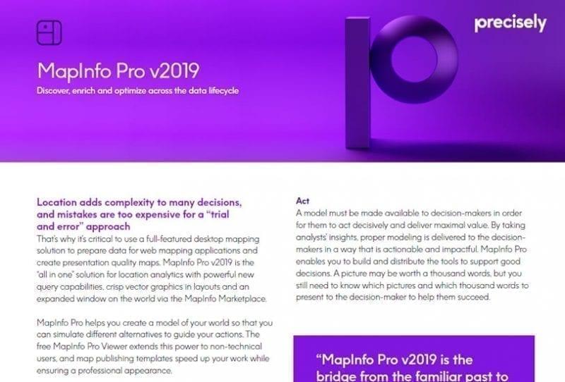 MapInfo Pro v2019