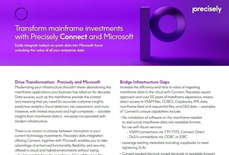 Transform Mainframe Investments