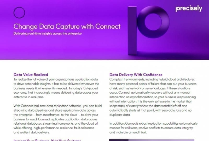 Change Data Capture with Connect