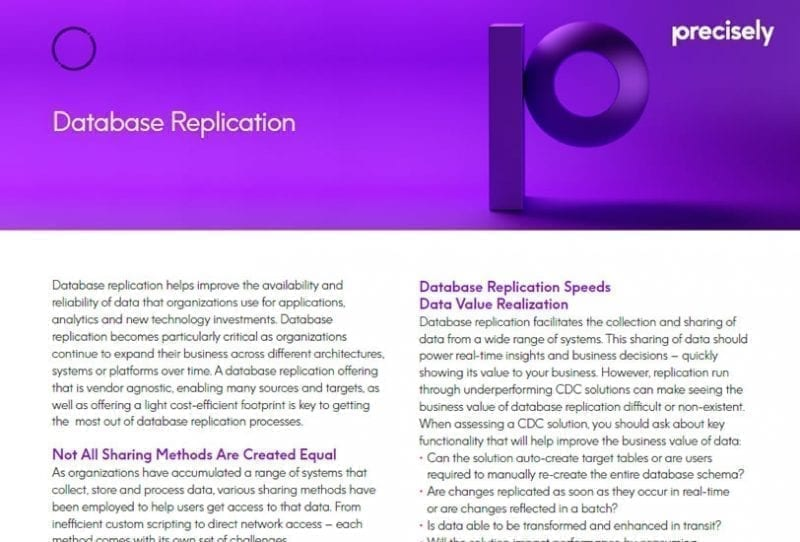 Precisely Connect Database Replication