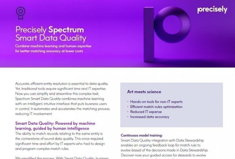 Precisely Spectrum Smart Data Quality