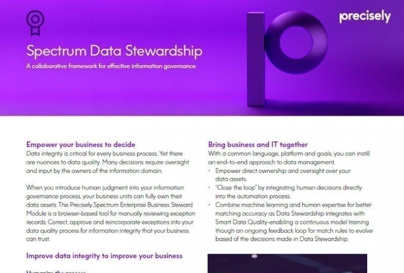 Spectrum Data Stewardship
