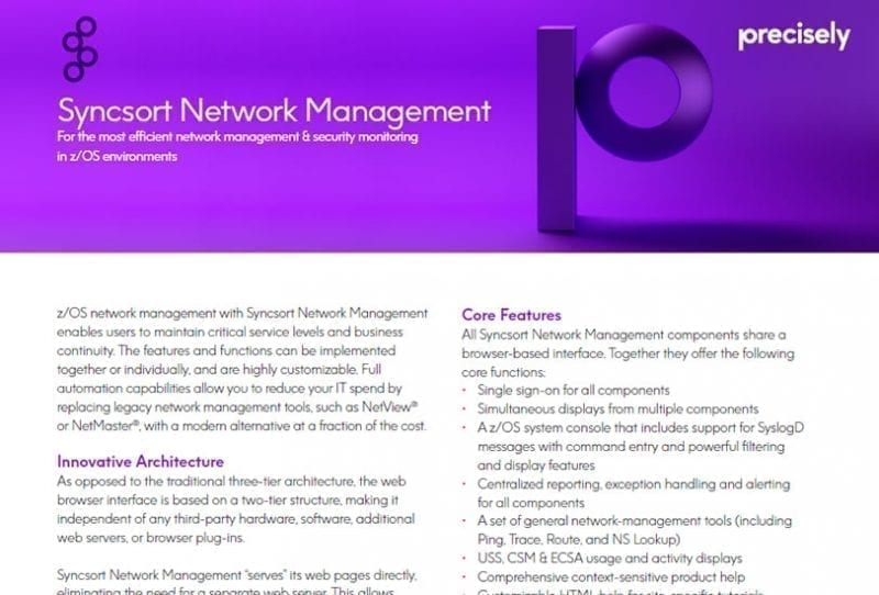 Syncsort Network Management