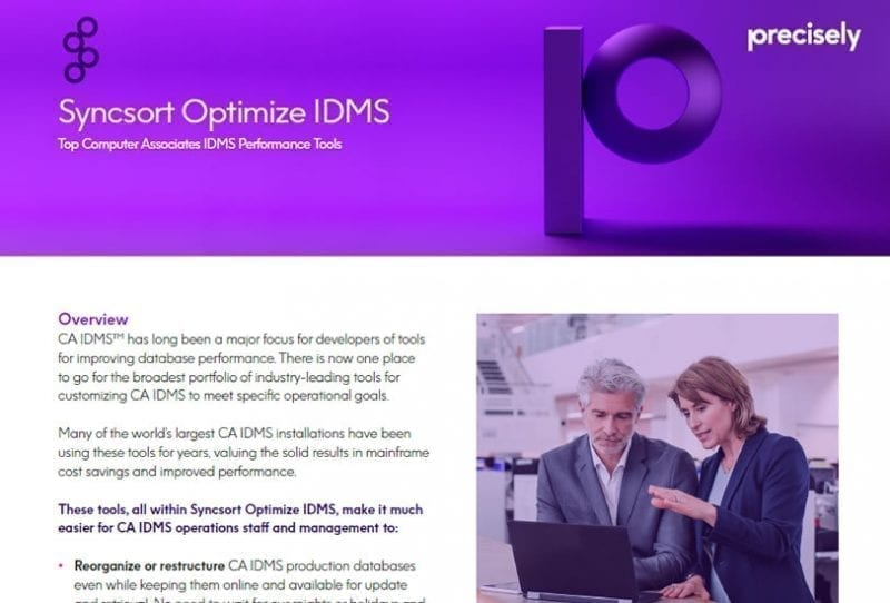 Syncsort Optimize IDMS