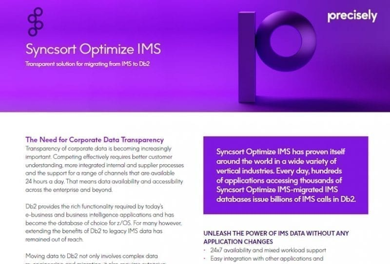 Syncsort Optimize IMS