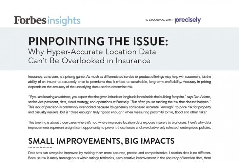 Pinpointing the Issue: Why hyper-accurate location data can't be overlooked in insurance