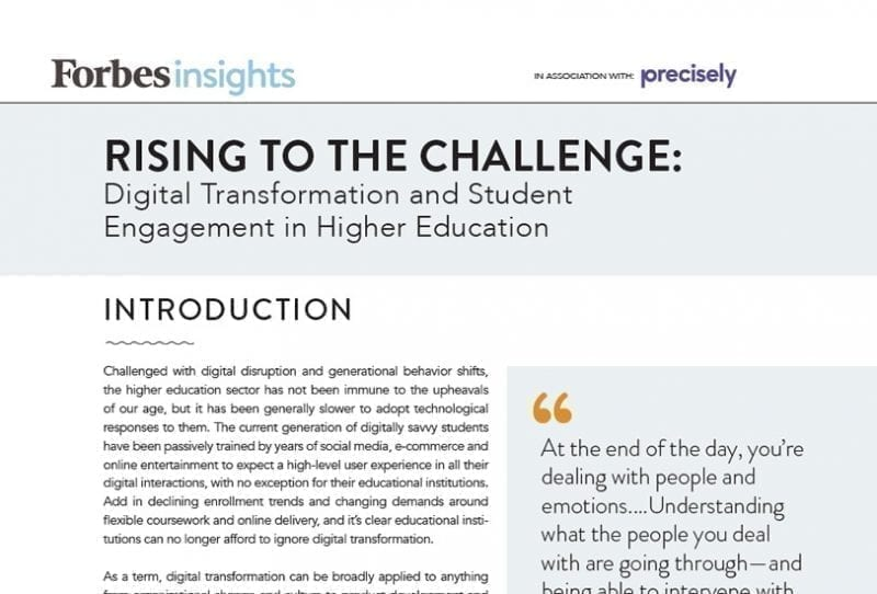 Digital transformation and student engagement in higher education