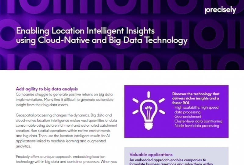 Location Intelligence for Big Data