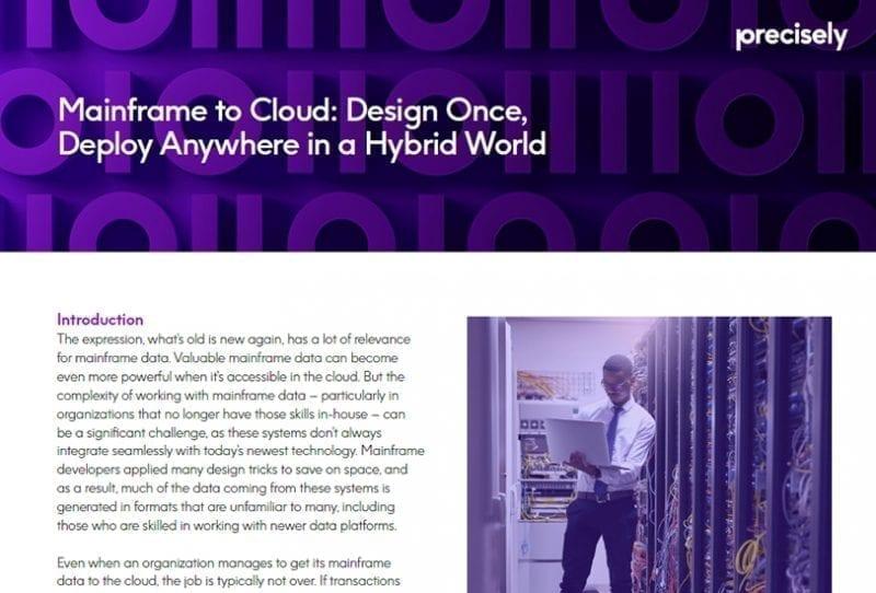 leveraging mainframe data