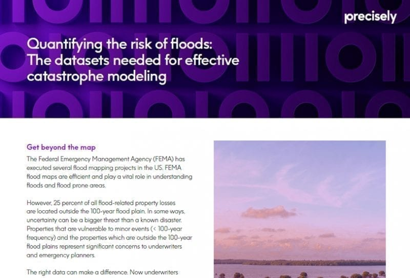 Quantifying the risk of floods