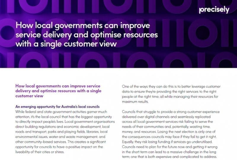 Local Governments Improve Services Delivery with Single Customer View