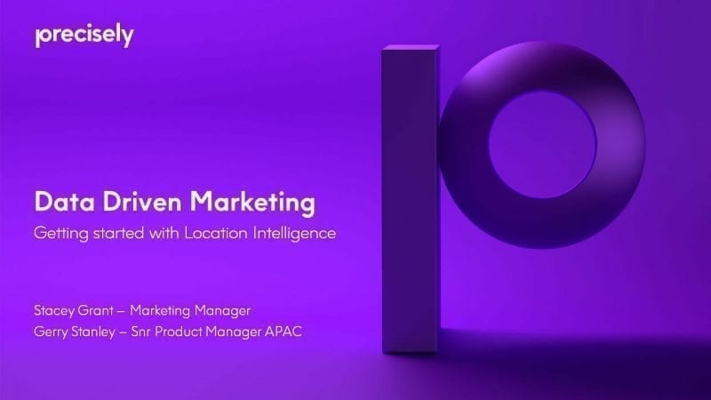 Data Driven Marketing - getting started with location intelligence
