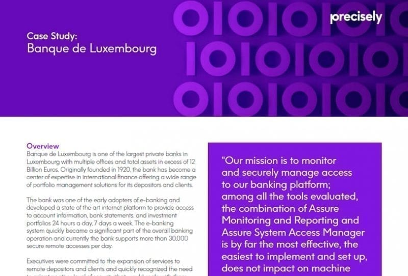 Banque de Luxembourg Customer Story