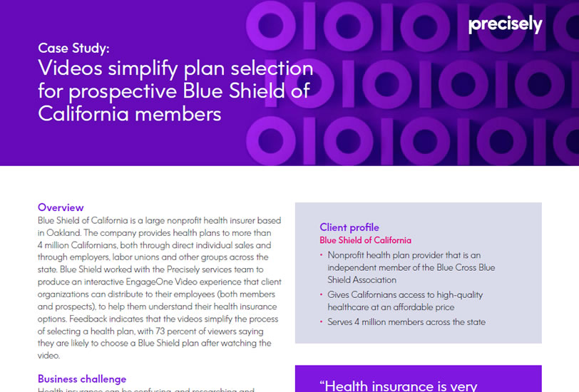 Blue Shield of California simplifies plan selection for prospective members
