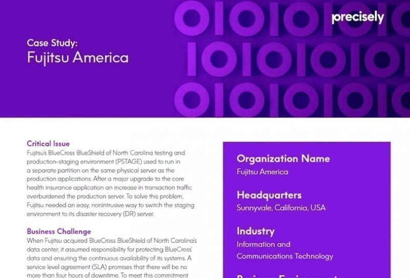 Fujitsu America Alleviates the Strain on Their Production Resources