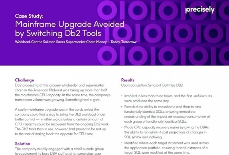 Supermarket Chain Switches Db2 Tools to Avoid Mainframe Upgrades