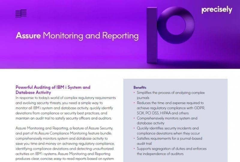 Assure Monitoring and Reporting