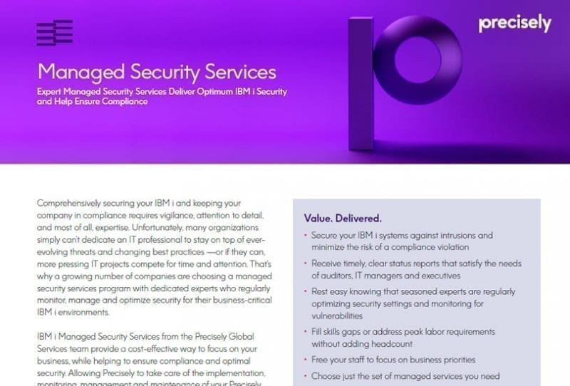 Managed Security Services for IBM i
